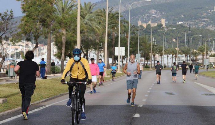 Running, caminata, trekking y bicicleta son los más practicados en banda horaria deportiva