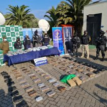 Armada incauta 123 kilos de droga transportada por mar desde Perú
