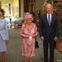 Reina Isabel II recibió a Joe Biden en el castillo de Windsor