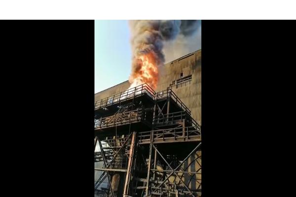 Incendio afectó a chimenea de fábrica de pellets en Huasco: planta pertenece a CAP