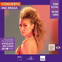 Cantante Iria Braga en Museo Violeta Parra