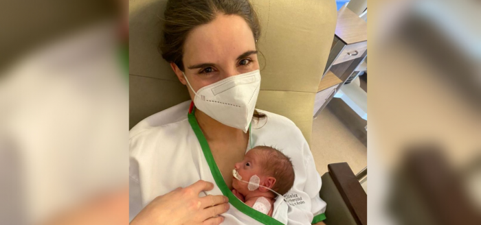 «Te vamos a tener que intubar e interrumpir el embarazo»: la chilena que tuvo a su hija estando hospitalizada grave por covid-19