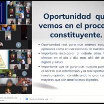 """Consagración y marco normativo que proteja la vejez marcaron conversatorio """"personas mayores y debate constitucional"""""""