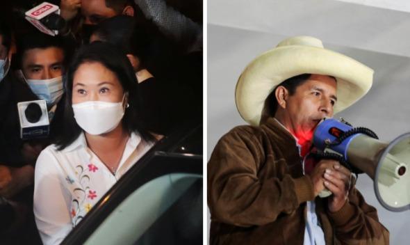 Final fotográfico en Perú: con el 90,5% de los votos, Fujimori aventaja a Castillo en 0,7 puntos y conteo se centra en localidades rurales y el extranjero