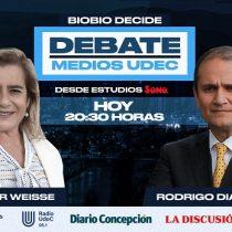 Rodrigo Díaz y Flor Weisse frente a frente: candidatos a la gobernación regional del Biobío debaten este lunes