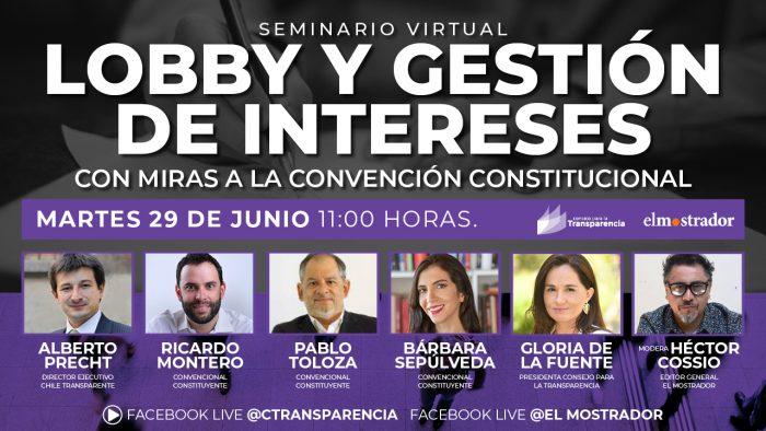 Consejo para la Transparencia organiza encuentro para abordar propuestas sobre lobby y gestión de intereses con miras a la Convención Constituyente