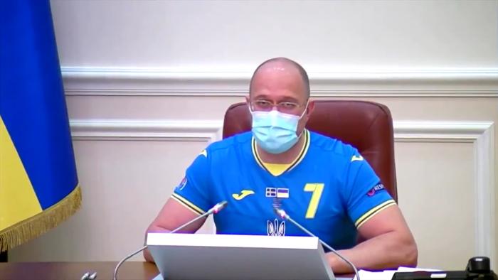 Ministros de Ucrania sesionaron con camiseta de la selección tras clasificación a cuartos de final de la Eurocopa