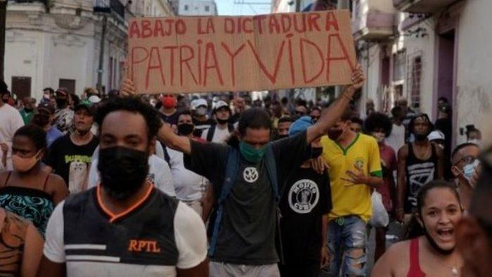 Protestas en Cuba: de dónde surgió el lema