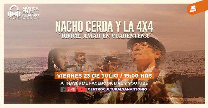 Nacho Cerda y la 4×4 en Centro Cultural San Antonio