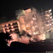 Explosivos derriban resto del condominio colapsado en Miami