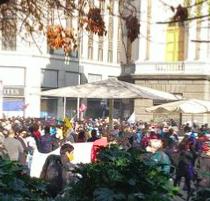 Se registraron incidentes en Santiago: Carabineros intervino con gas lacrimógenopor manifestaciones cerca del ex Congreso