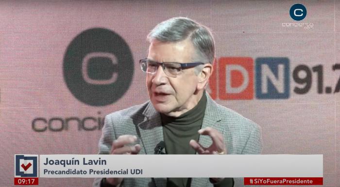 """El """"socialdemócrata"""" Joaquín Lavín define su domicilio político: """"Soy una persona de centro derecha, lo he sido desde siempre"""""""