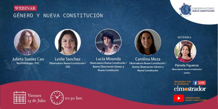 Observatorio Nueva Constitución presenta y analiza estudio sobre género y nueva Constitución