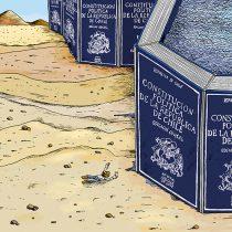 El acceso a agua y sequía son los protagonistas de la ilustración de Marcelo Escobar sobre proceso constituyente