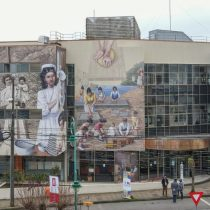 Inauguran mural que busca apoyar postulación de Lota como Patrimonio de la Humanidad