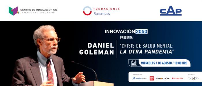 """El Mostrador transmitirá charla de Daniel Goleman, autor de los best seller """"Inteligencia emocional"""" e """"Inteligencia social"""", en evento Innovación 2050"""