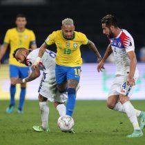 Otra vez no se pudo: con uno más, la Roja cayó ante Brasil y se despidió de la Copa América