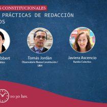 """Observatorio Nueva Constitución inicia ciclo de talleres constituyentes con """"experiencias prácticas de redacción de reglamentos"""""""