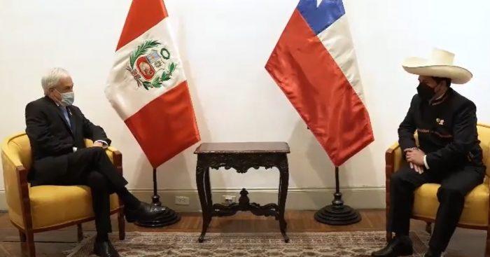 Presidente Piñera se reúne con Pedro Castillo en la antesala de cambio de mando en Lima: