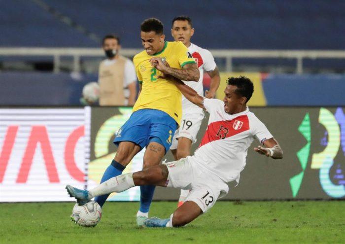 Brasil vence por la cuenta mínima a Perú y avanza a la final de la Copa América