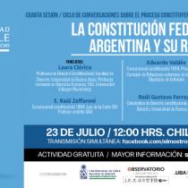 """Sigue en vivo seminario """"La Constitución Federal de la Argentina y su reforma"""""""