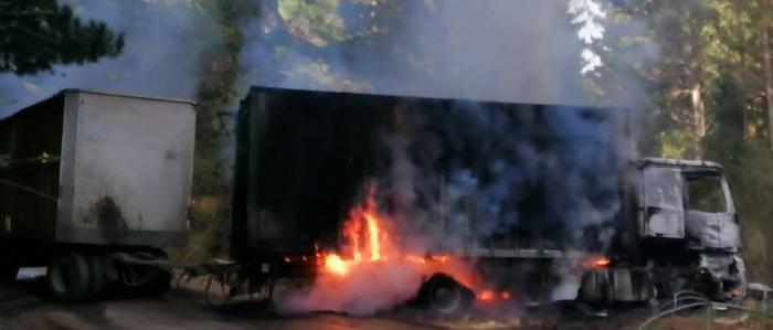 Curanilahue: 24 vehículos quemados tras ataques incendiarios