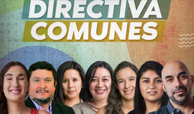 Comunes presenta a su renovada directiva: preside Jorge Ramírez y se integran Camila Rojas, Emilia Schneider y alcalde Gonzalo Montoya