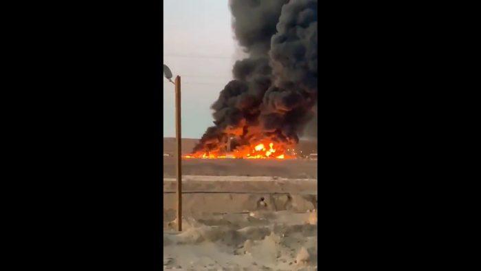 Incendio afecta a planta de SQM en Pozo Almonte