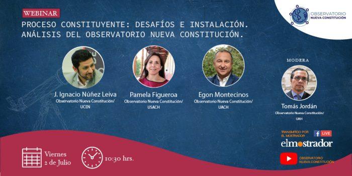 """Sigue en vivo seminario Observatorio Nueva Constitución: """"Proceso constituyente: desafíos e instalación"""