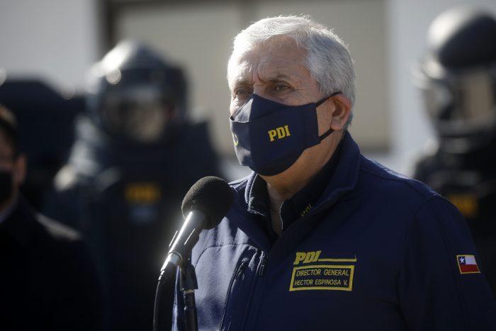Formalización a exdirector de la PDI Héctor Espinosa: fijan audiencia para el 13 de octubre