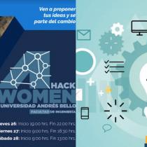 """Ciclo de charlas y mentorías """"Hack4women"""" busca reducir brechas de género e incentivar a las mujeres a desarrollarse en áreas stem"""