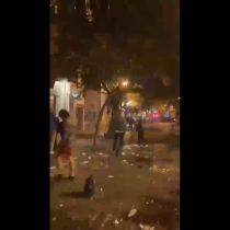Ministro Delgado y destrozos en Barrio Lastarria del viernes pasado: