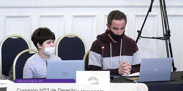 """Niño expone ante la Comisión de DD.HH. de la Convención:  """"Encuentro injusto que no se le dé el derecho a los menores de 18 años para votar"""