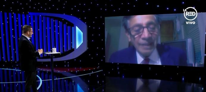 El momento en que Sergio Tapia Ojeda se entera en televisión de que no es candidato presidencial