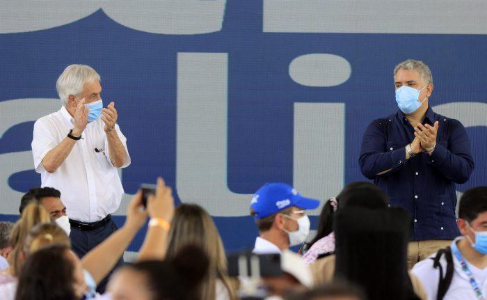 Presidente Piñera renueva apoyo a la paz de Colombia e impulsa la Alianza del Pacífico