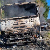 Dos ataques incendiarios en La Araucanía deja maquinaria y dos galpones quemados