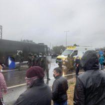 Protesta en Ruta 5 Sur: manifestante acusa lesión ocular por actuar de Carabineros