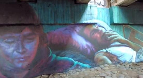 """Colectivo artístico """"HA Crew"""" realizó gran mural en homenaje a Fabiola Campillai y Mario Acuña, víctimas del abuso policial durante el estallido social"""