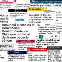 Medios internacionales se hacen eco del falso cáncer del convencional Rodrigo Rojas Vade