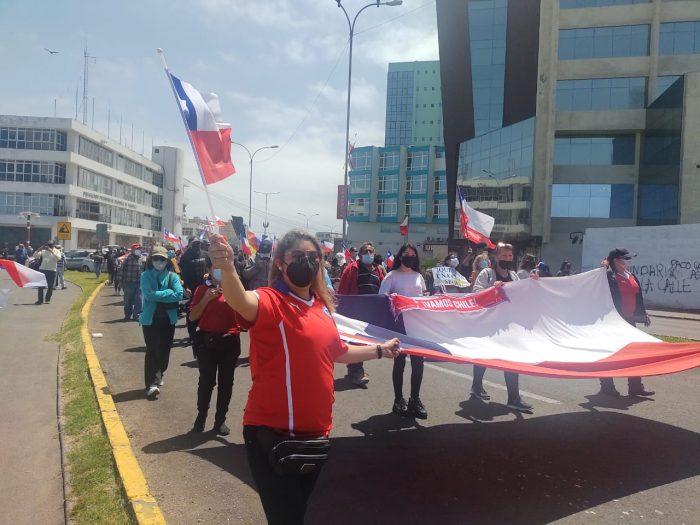 Registran manifestaciones en Iquique por falta de medidas ante masiva migración irregular