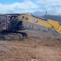 Ataque incendiario en Malleco: desconocidos quemaron cuatro maquinas forestales
