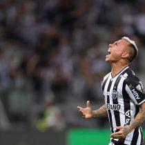 Eduardo Vargas anotó para el Atlético Mineiro pero no le alcanzó para clasificar a la final de la Libertadores frente a Palmeiras