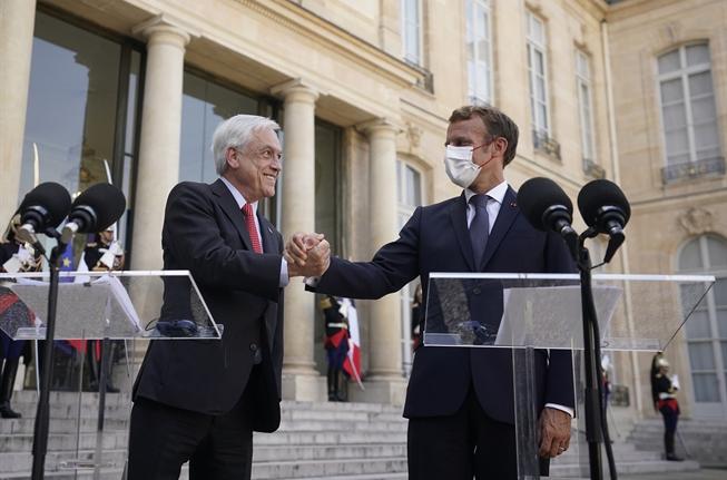 El Presidente Piñera, Macron y las inversiones europeas