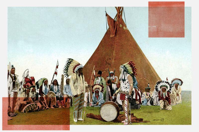 Reunión de los jefes de las tribus Mohawk, Onondaga, Oneida, Cayuga, Seneca y Tuscarora; esta última se unió a los haudenosaunee en el siglo XVIII. Imagen de Getty