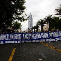 Manifestación por la autonomía y resistencia del pueblo mapuche termina con disturbios en Santiago