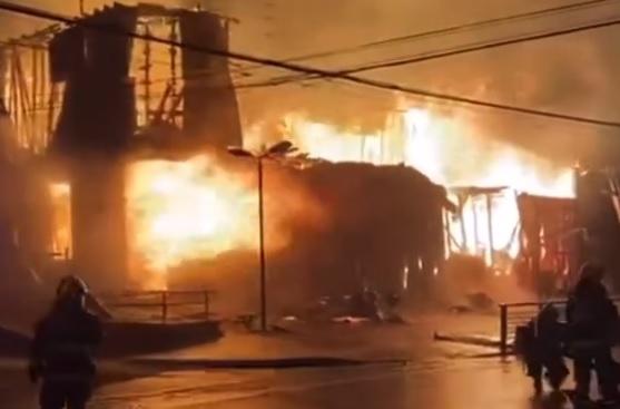 Monumento histórico nacional Casona Eyheramendy fue consumida por las llamas tras gran incendio en Los Álamos