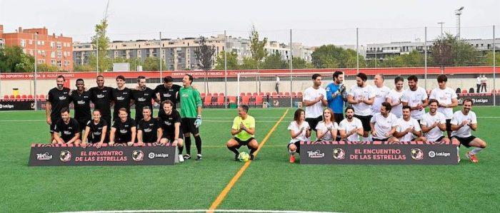 'Encuentro de las estrellas': se disputó partido amistoso de fútbol entre equipos mixtos en el marco de los Premios Platino