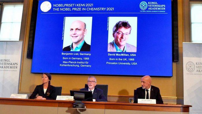 Nobel premia la organocatálisis, nueva herramienta para construir moléculas